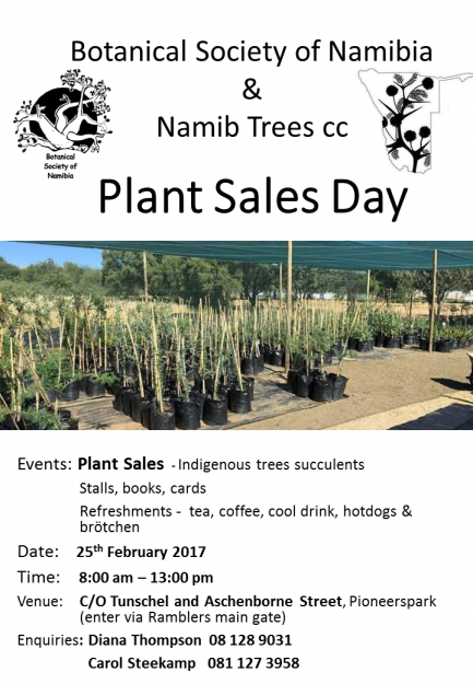 Indigenous plant sales day on 25th February